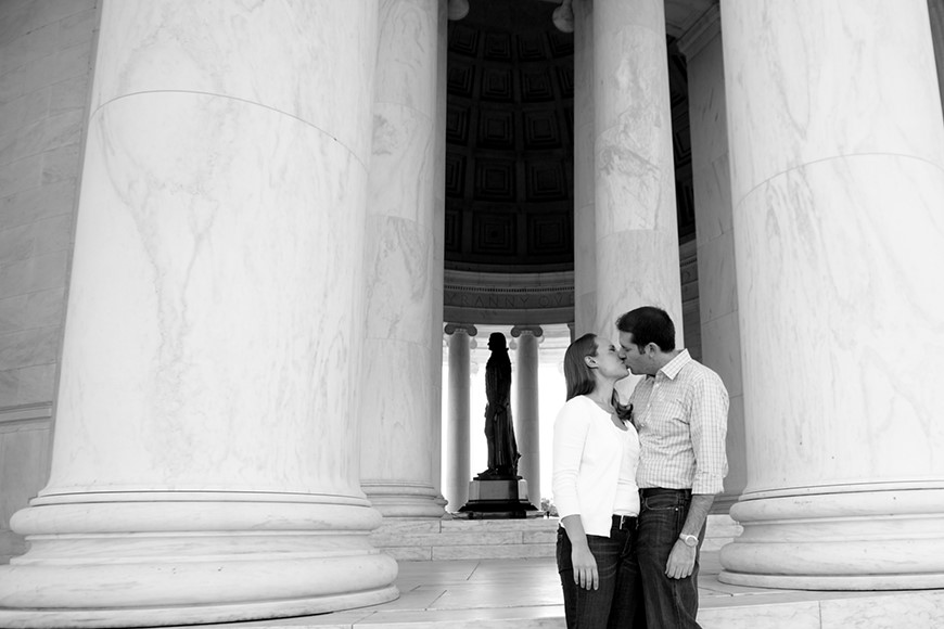 Janelle and Dan's engagement session by Washington DC Wedding Photographer Ben Rasmussen Photography