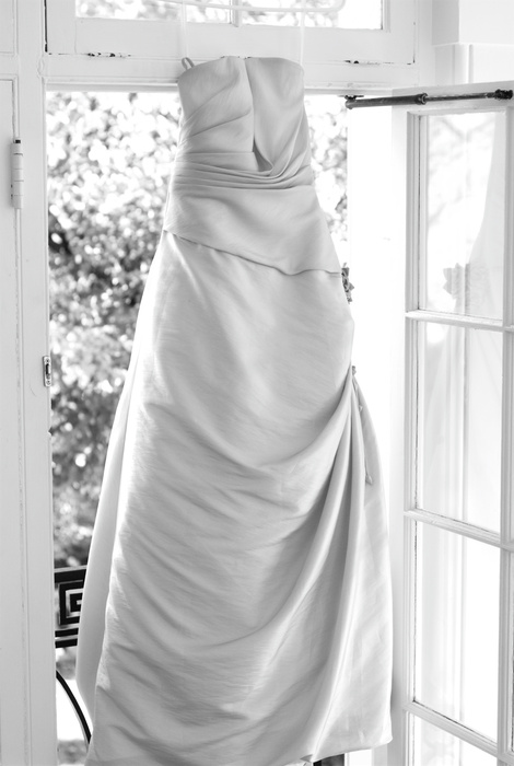 Wedding dress hanging in window | Washington DC Wedding Photographer, Ben Rasmussen Photography