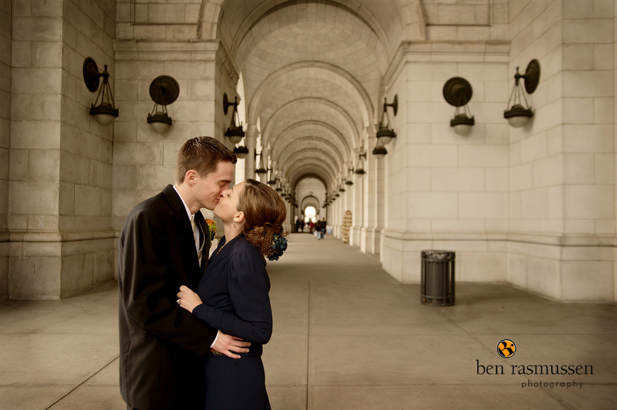 Caitlin & Alex at Union Station by Washington DC wedding photographer, Ben Rasmussen Photography