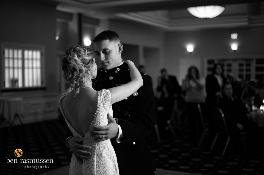 Wedding photography at the Clubs at Quantico Marine Corps base by Washington DC wedding photographer Ben Rasmussen Photography